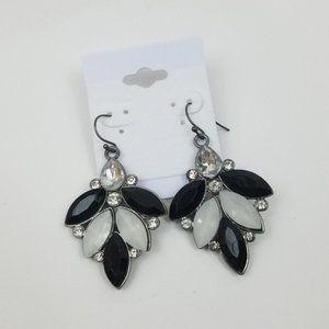 Chandelier Rhinestone Cluster Dangle Earrings